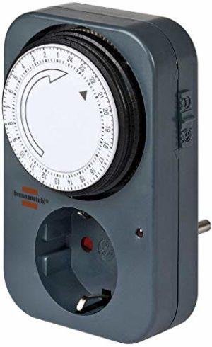 Brennenstuhl Primera-Line Zeitschaltuhr DT digitale Timer-Steckdose Farbe silber