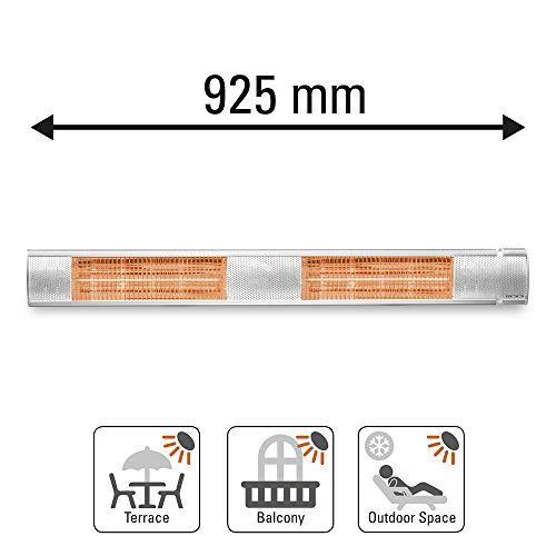 TROTEC Infrarotstrahler IR 2500 S Heizstrahler Quarzstrahler Terrassenheizer